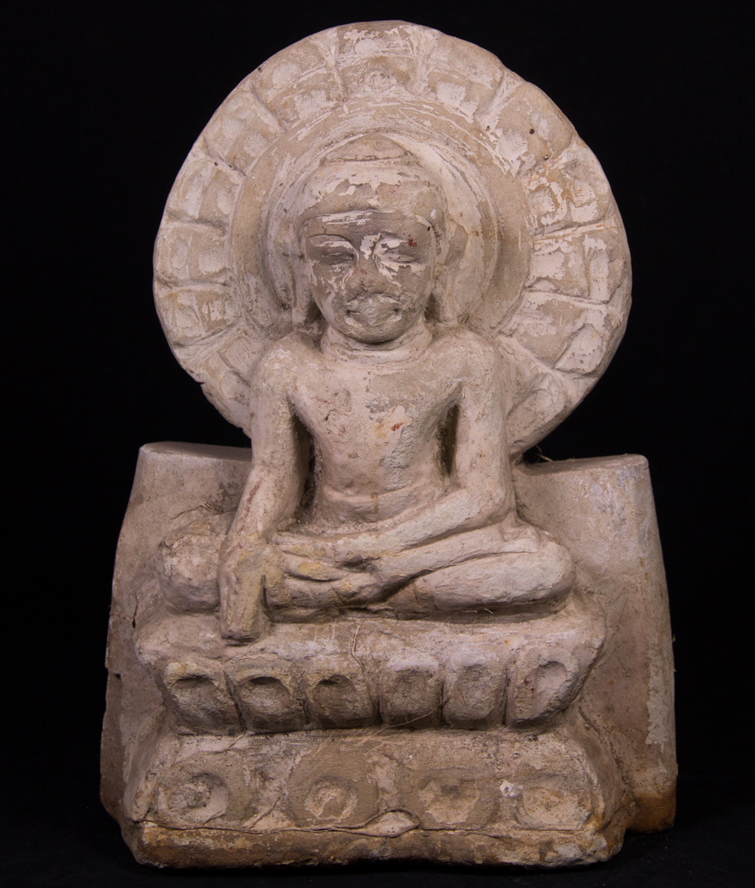 Antique stone Buddha statue from Burma made from Limestone