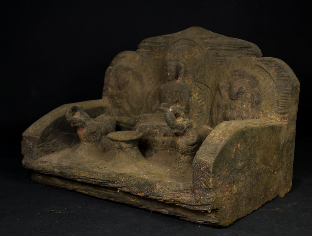 Old Nepali Throne from Nepal made from Wood
