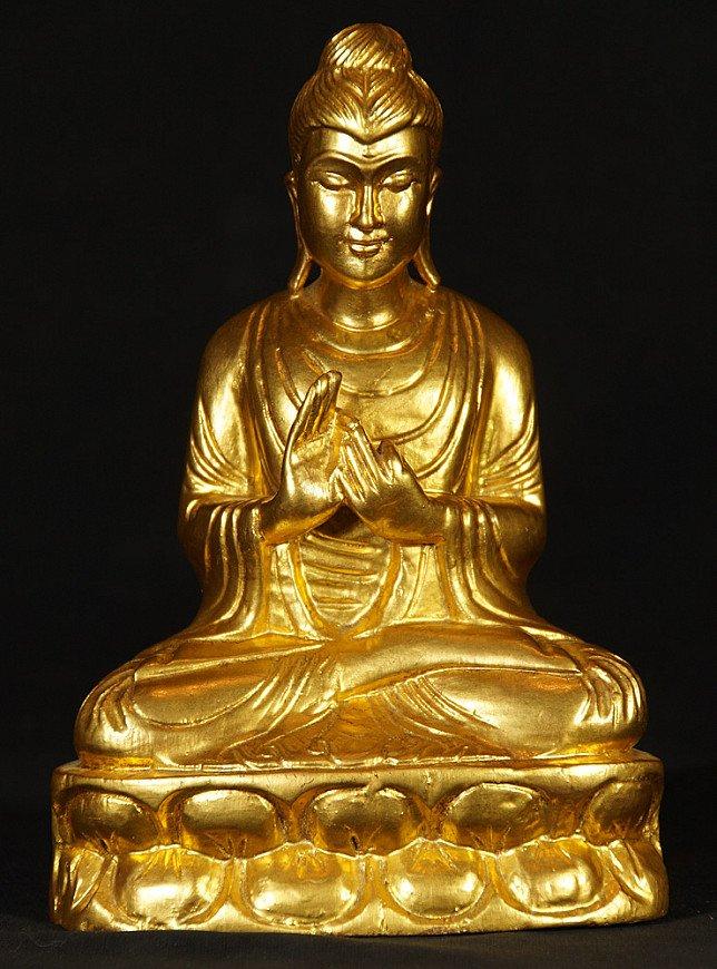 Old gild-wooden Buddha statue