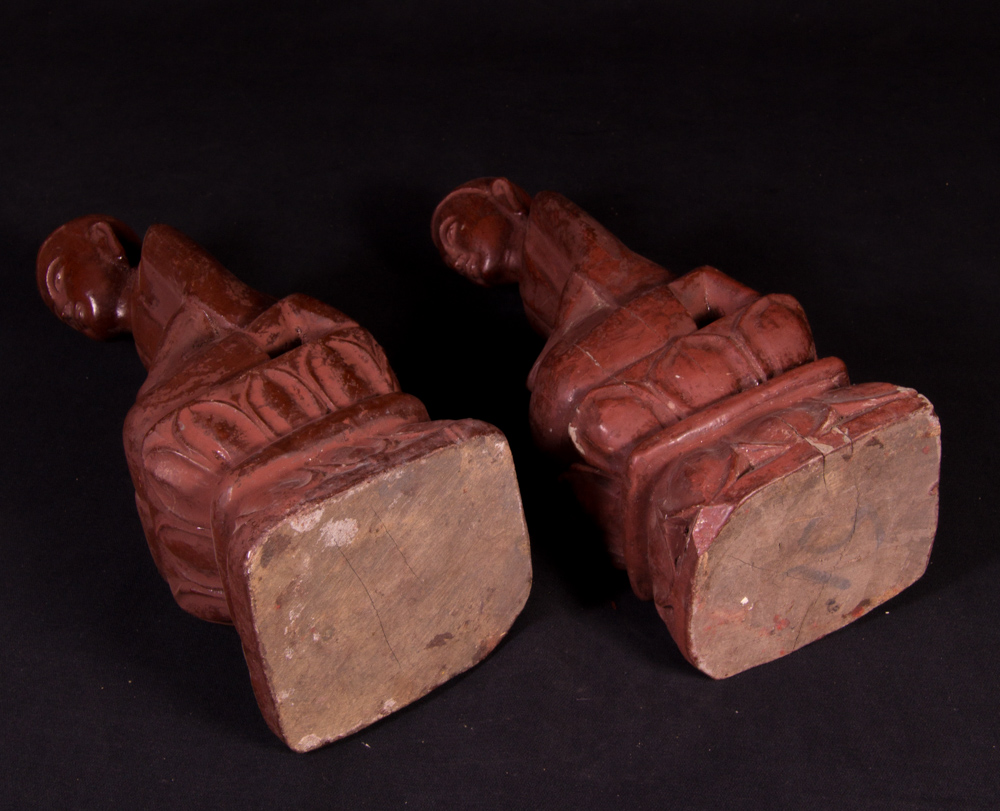 Set of old monk statues
