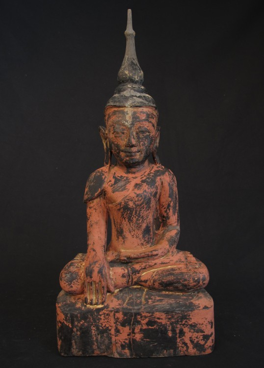 Antique wooden Buddha from Burma