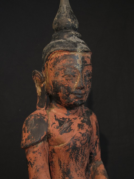 Antique wooden Buddha from Burma made from Wood