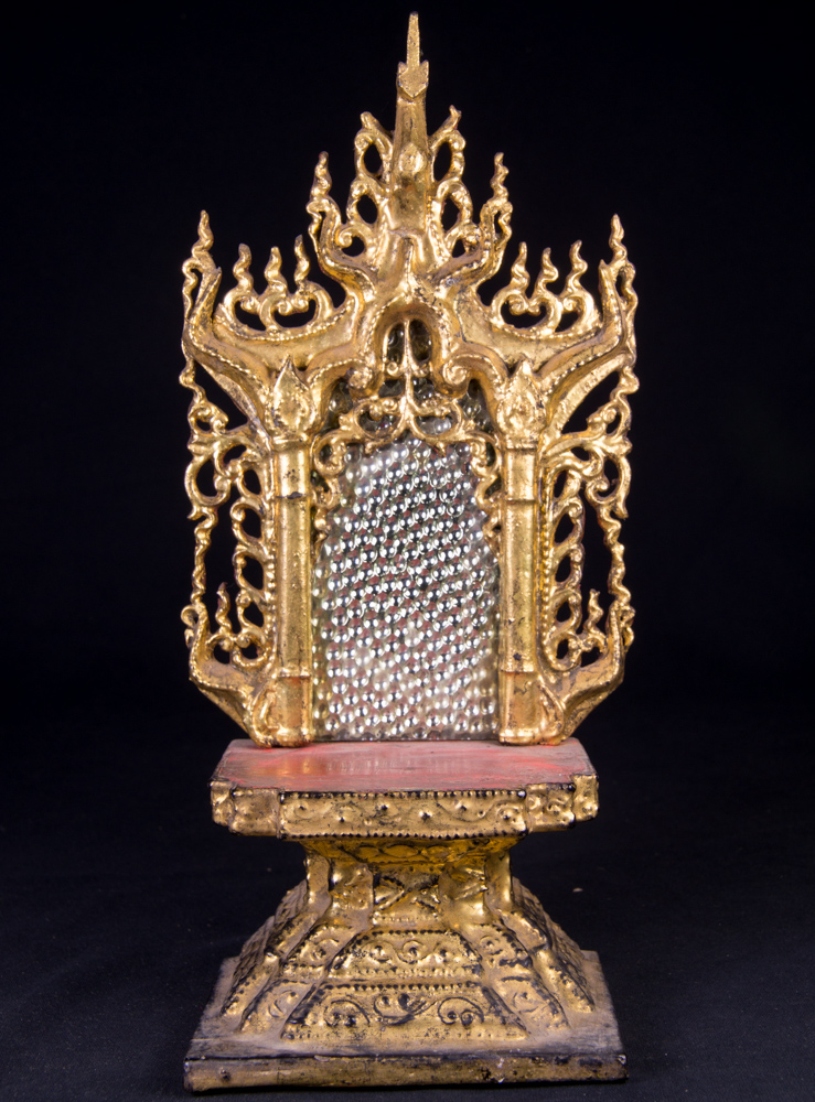 Antique Buddha throne from Burma made from Wood