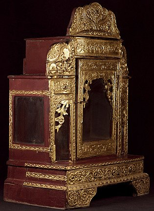 Antique wooden Buddha shrine