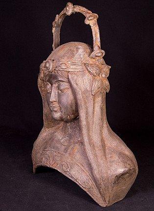 Alte Bronze Frau Kopf