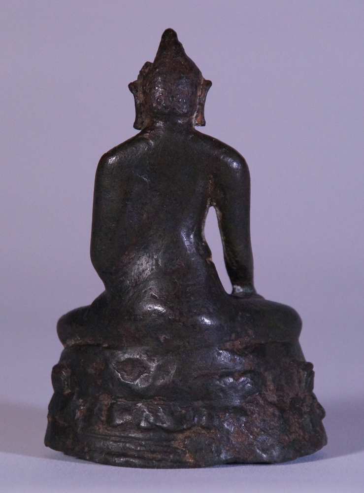 Very special Pagan period Buddha statue from Burma made from Bronze