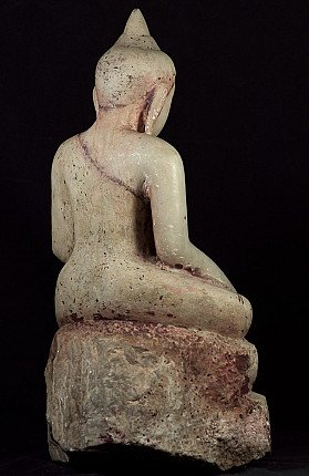 Antiek Marmeren Ava Boeddhabeeld