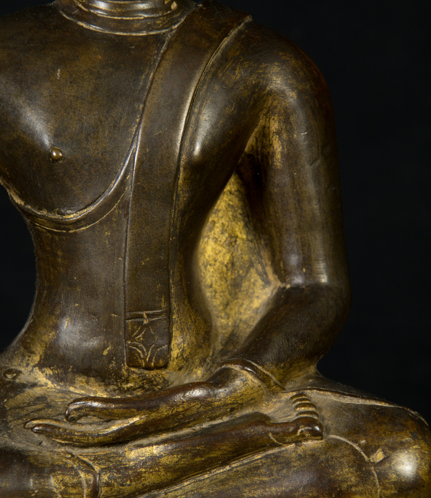 16th century North Thailand Buddha statue from Thailand made from Bronze