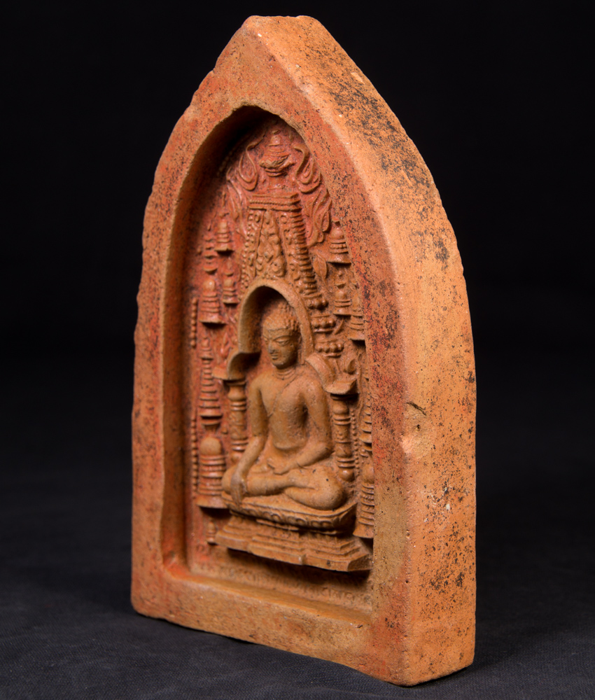 Antique Pagan Votive Tablet from Burma made from Clay / pottery