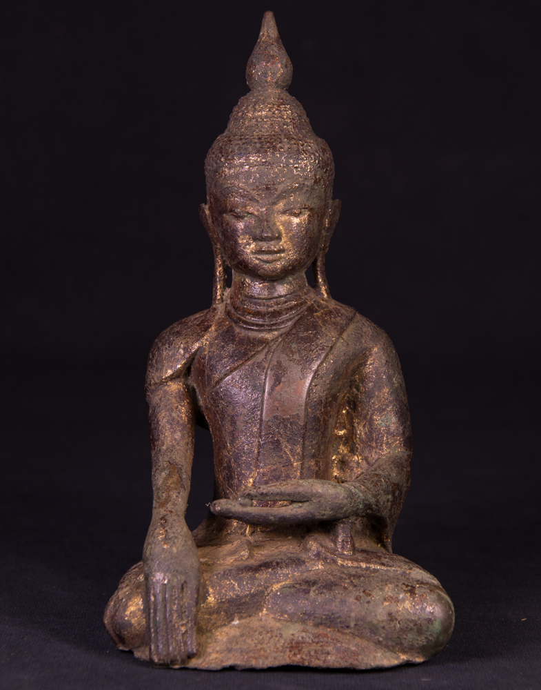 16th century bronze Buddha statue from Burma