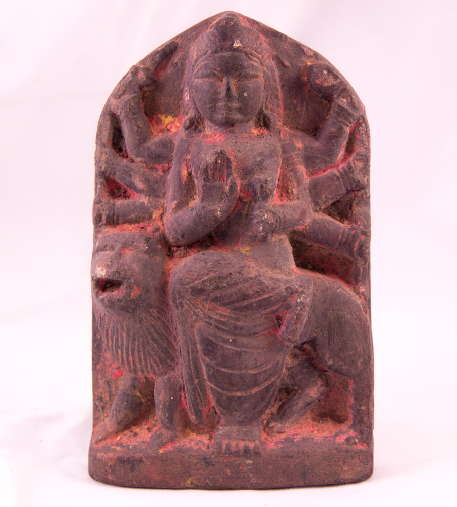 Antique Nepali stone Durga statue from Nepal