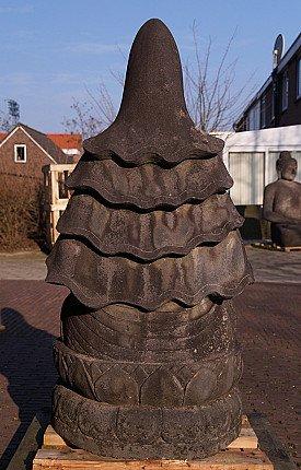 Large lavastone Guan Yin statue