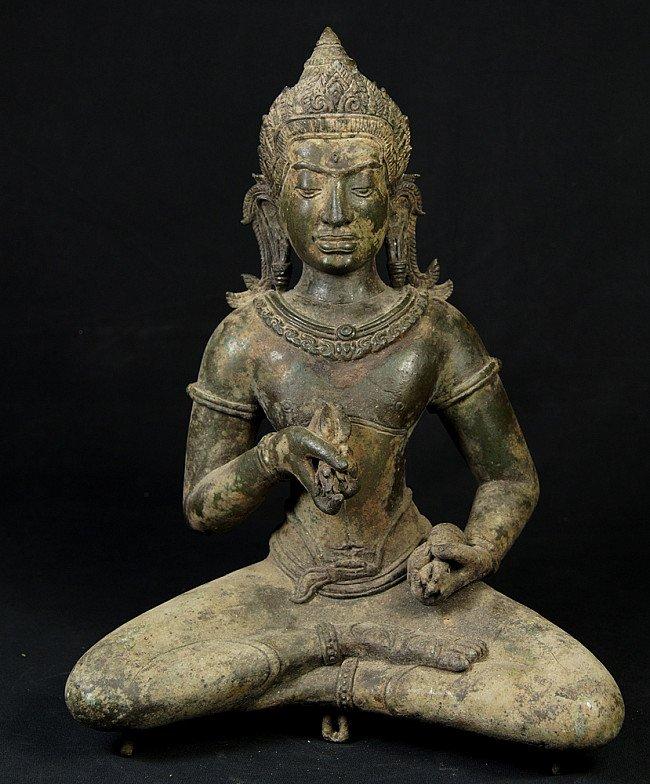 Alte bronze Khmer Buddha Figur