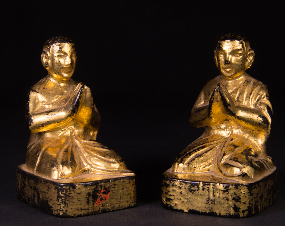 Antique set monk statues from Burma