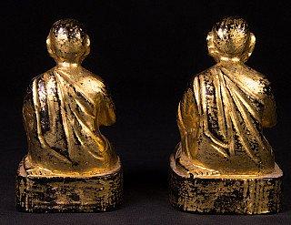 Antique set monk statues