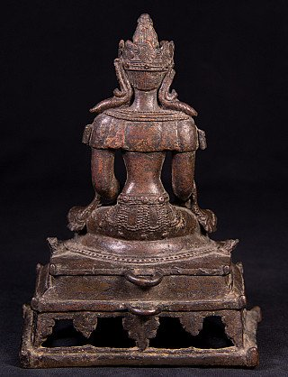 Very special bronze Burmese Arakan Buddha statue