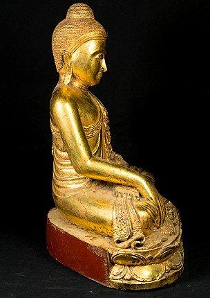 Oud teakhouten Boeddhabeeld