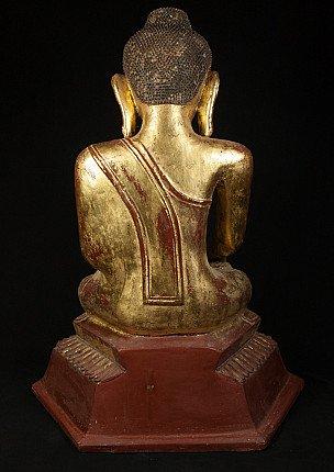 Antique lacquer Ava Buddha statue