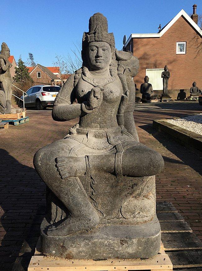 Large lavastone Devi Tara statue
