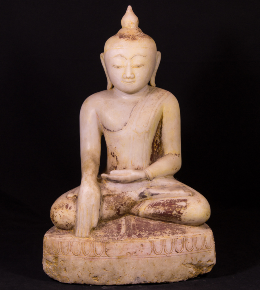 Antique alabaster Buddha statue from Burma