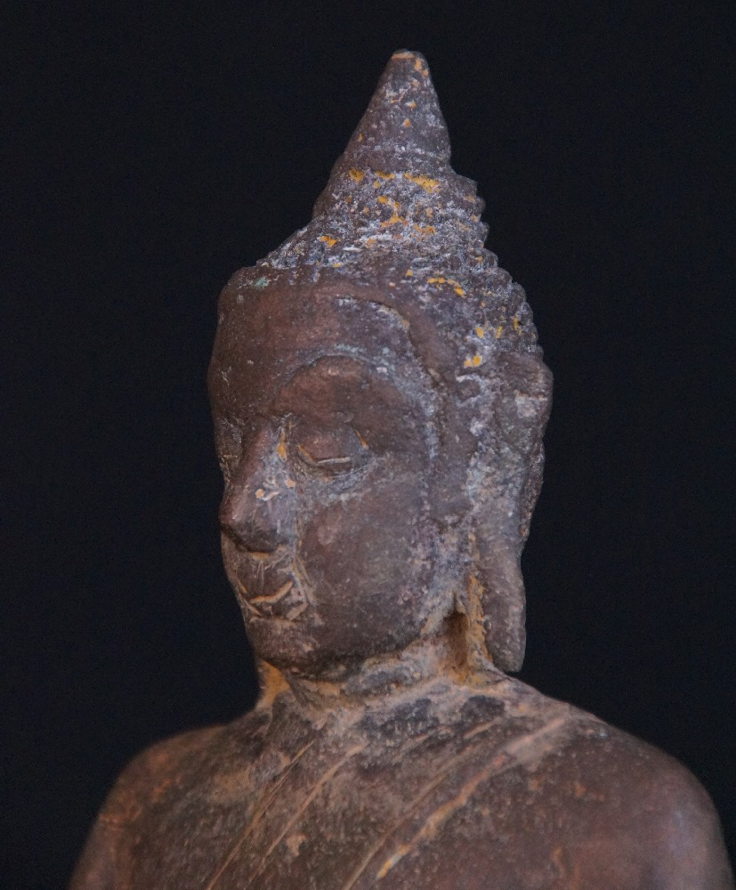 15-16th century Burmese Mon Buddha from Burma made from Bronze