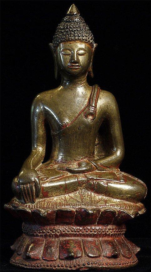 14. Jahrhundert Thai Lanna Buddha Figur
