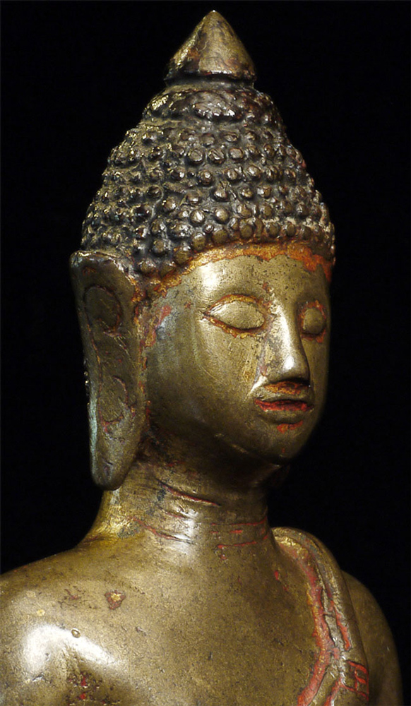 14th century Thai Lanna Buddha statue from Thailand made from Bronze