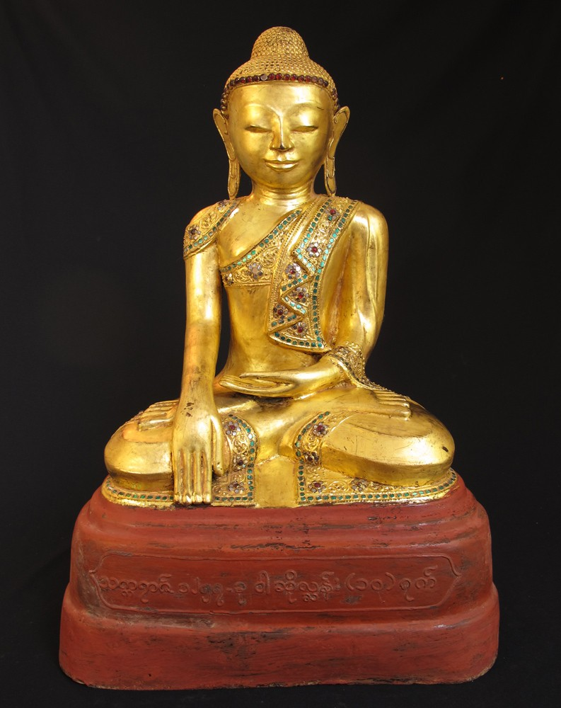 Old lacquerware Buddha from Burma