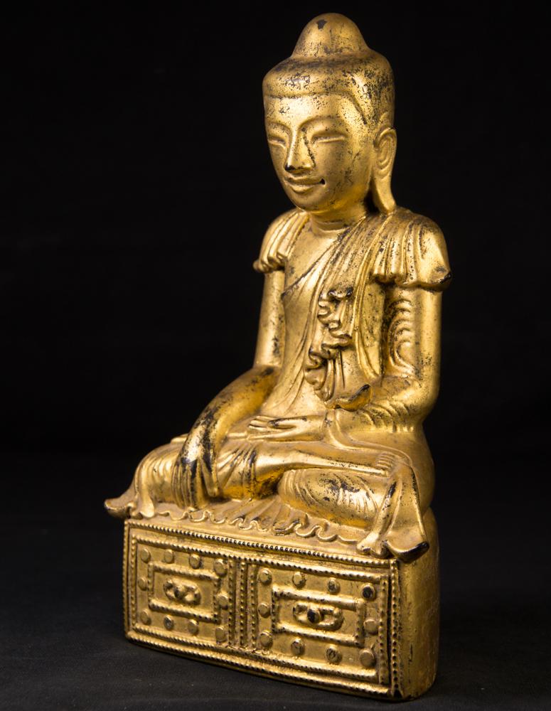 antike holzerne shan buddha figur aus birma gemacht aus holz. Black Bedroom Furniture Sets. Home Design Ideas