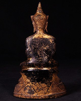 Antique bronze Ayutthaya Buddha statue