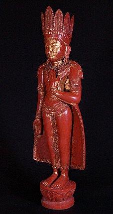 Alter stehender Kronen Buddha Figur