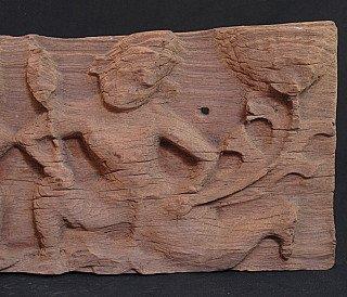 Antique temple panel