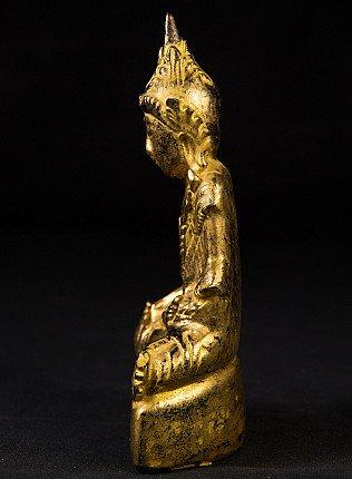 Antique lacquerware Shan Buddha statue