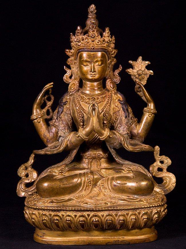 Alte bronze Chengresi Figur