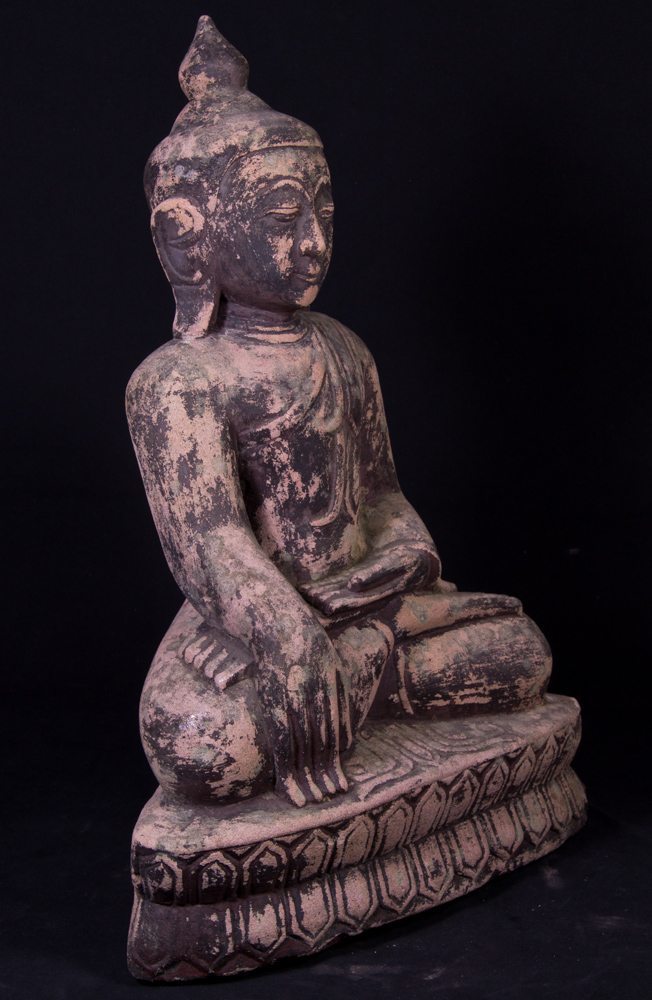 Old sandstone Buddha statue from Burma made from