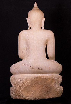 Antique high quality Alabaster Buddha statue