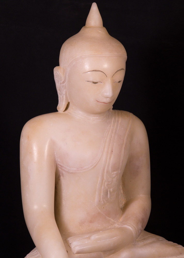 Antique high quality Alabaster Buddha statue from Burma made from Marble