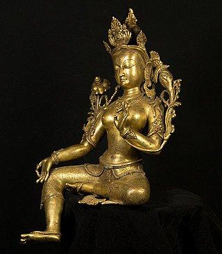 Large bronze Tara statue