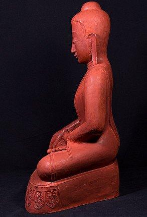 Old Burmese lacquerware Buddha statue