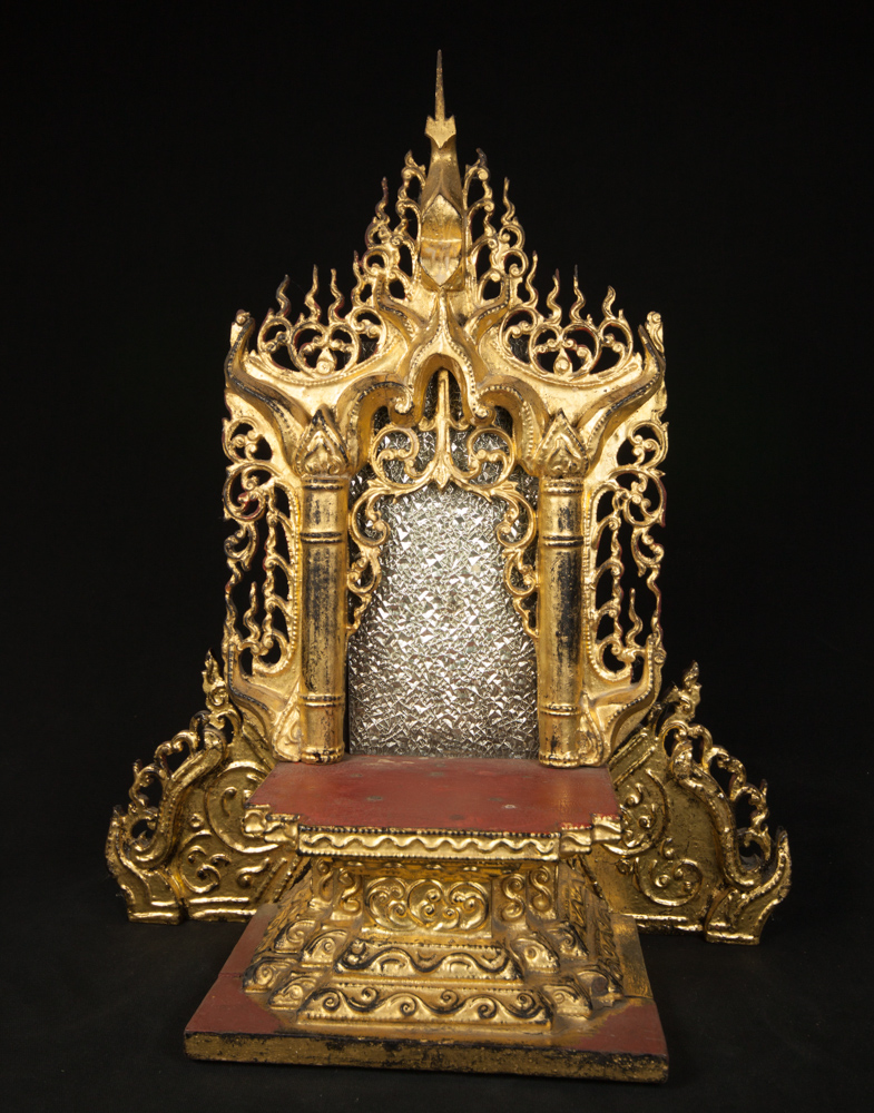 Antique Burmese throne from Burma made from Wood