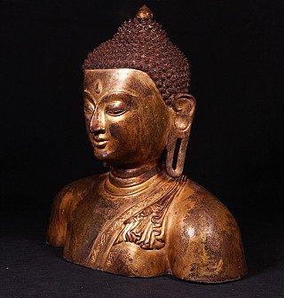 Alte bronze Buddha Kopf