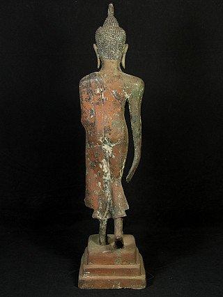 Antique bronze U-Thong Buddha statue