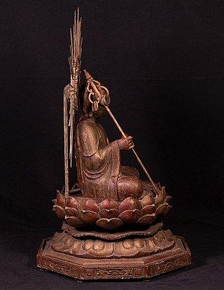 Large Japanese Jizo monk statue