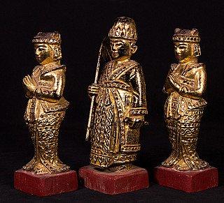 Antique set of Burmese Nats