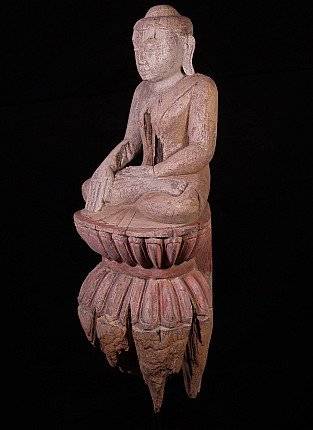 Antique Burmese Buddha on a high base