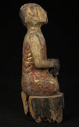 Antieke houten monnik