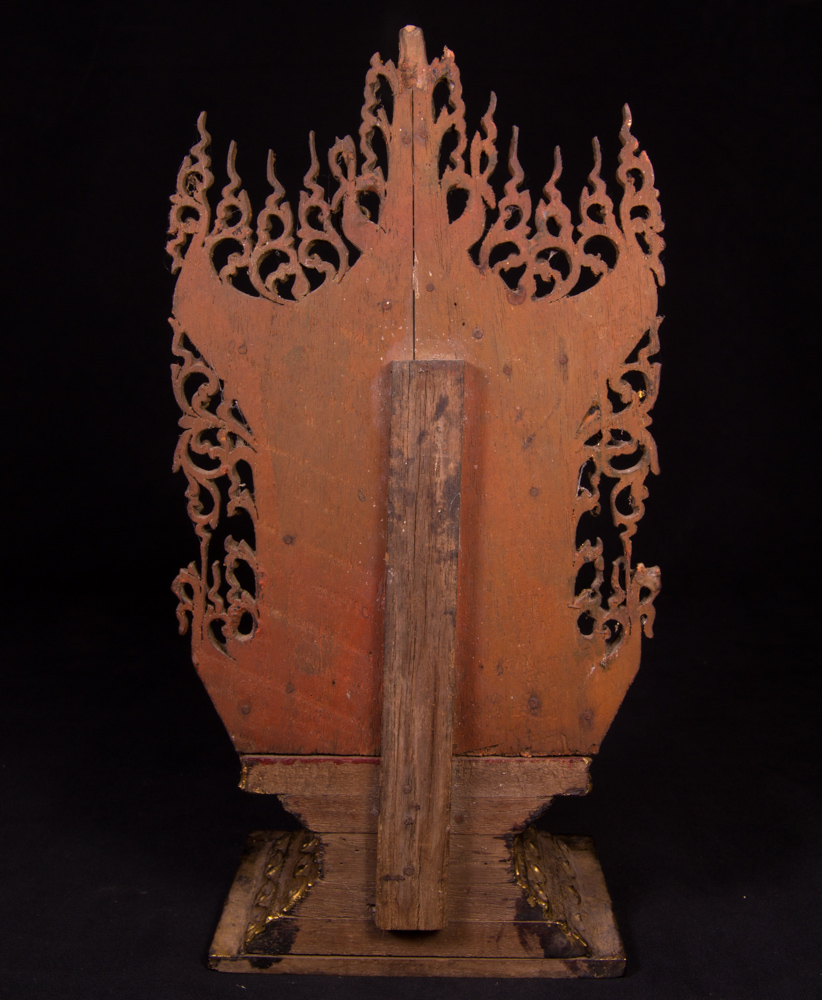 Antique Burmese Buddha throne from Burma made from Wood