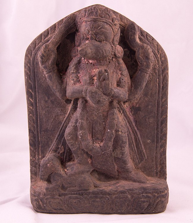 Antique blackstone Vajravarahi statue