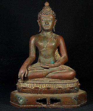 Oude bronzen Chiang Saen Boeddha