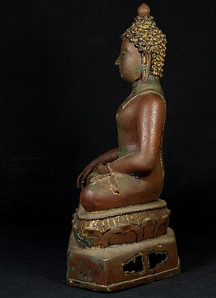 Alte bronze Chiang Saen Buddha Figur